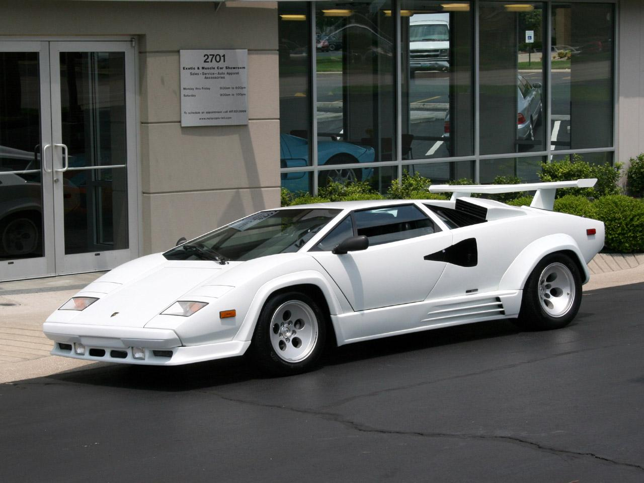 image gallery white countach. Black Bedroom Furniture Sets. Home Design Ideas