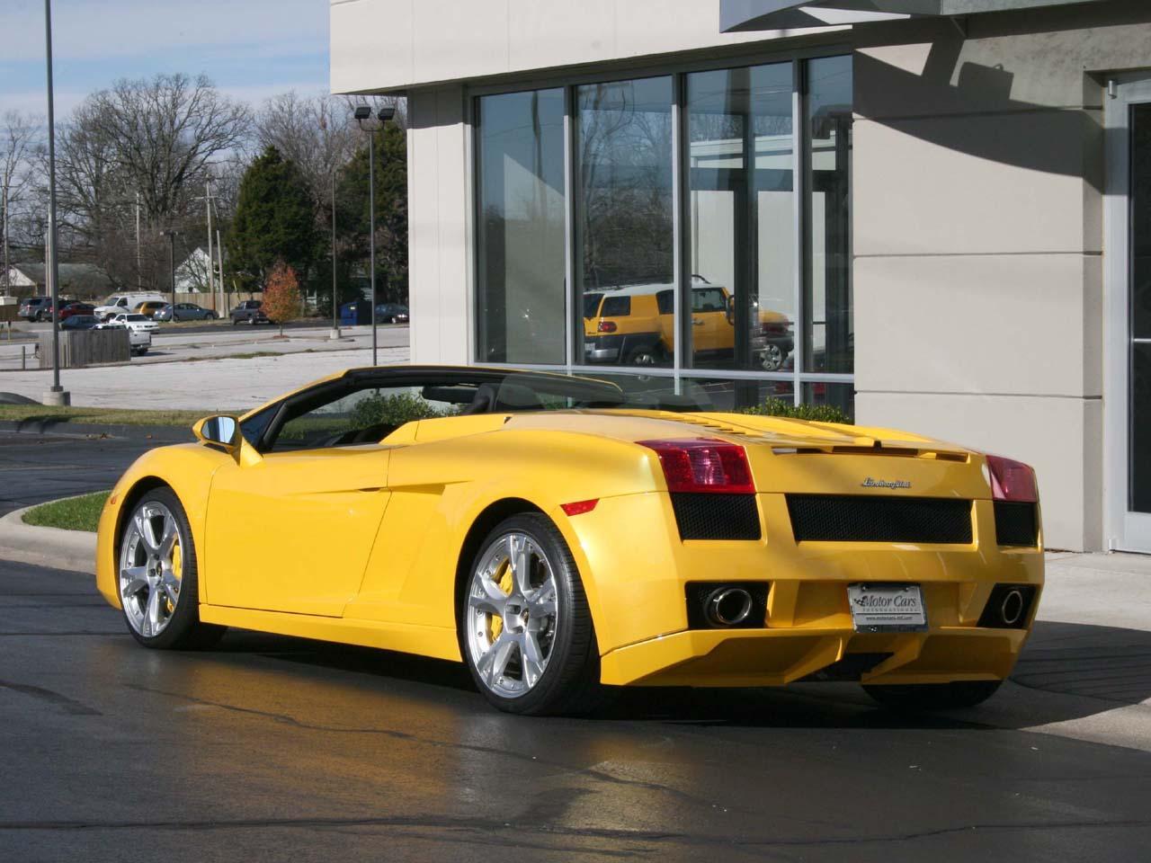 2007 Lamborghini Gallardo Spyder - Silver Arrow Cars Ltd.   2007 Lamborghini Gallardo Spyder